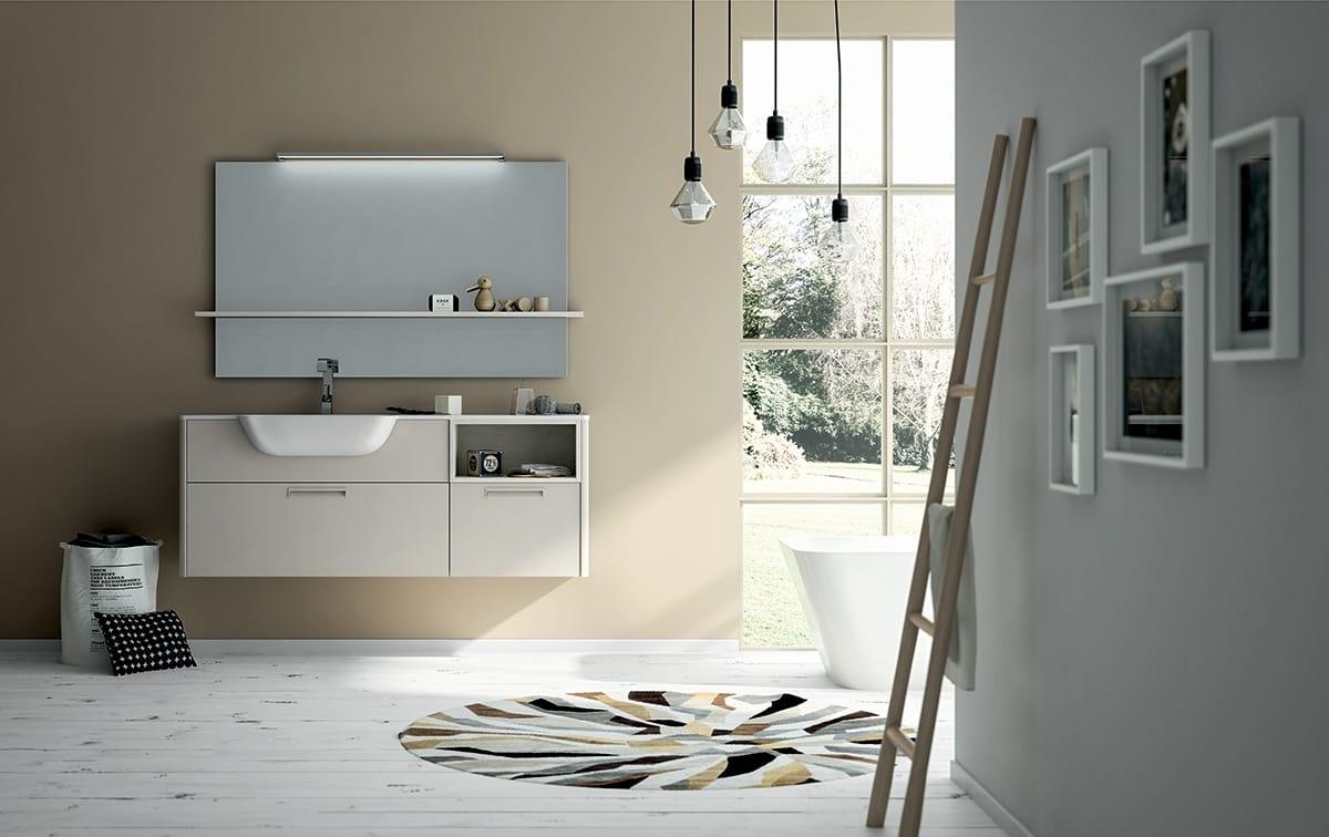 Badezimmerschrank mit Spiegel und Regal | IDFdesign