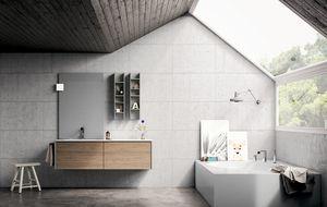 Dress 2.0 comp.09, Badezimmermöbelzusammensetzung in der modernen Art