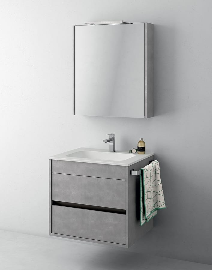 Platzsparender Schrank für Badezimmer mit Spiegel | IDFdesign