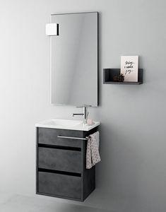 Duetto comp.15, Platzsparender Badezimmerschrank, moderner Stil