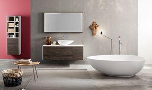 Kami comp.02, Modulares Badezimmerschrank mit Aufsatzwaschtisch