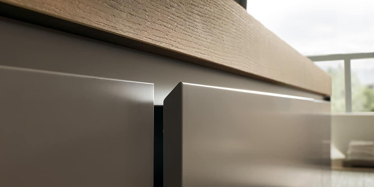 eleganter badezimmerschrank mit hpl eichenspitze und waschbecken idfdesign. Black Bedroom Furniture Sets. Home Design Ideas
