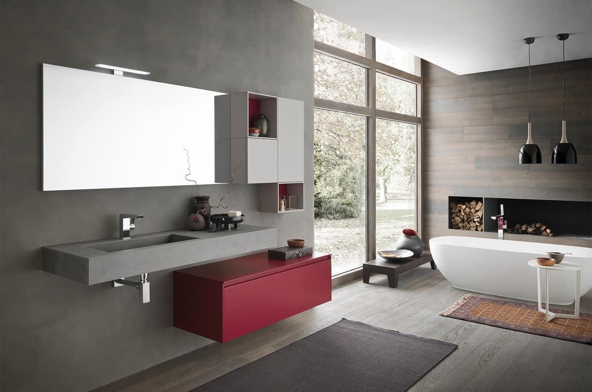 badezimmer-wandschrank, mit speicherelementen   idfdesign, Badezimmer ideen