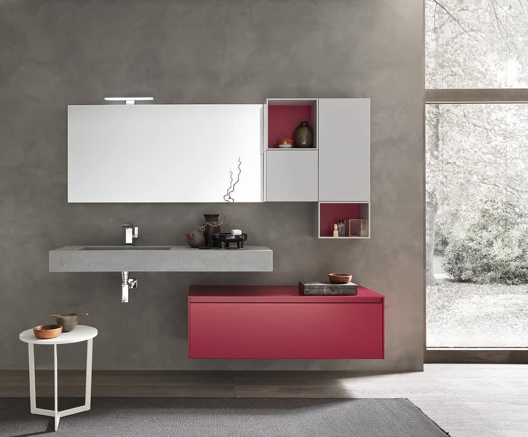 Badezimmer-Wandschrank, mit Speicherelementen | IDFdesign