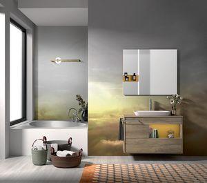 Lume comp.10, Badezimmerzusammensetzung mit Wanne und Wanne