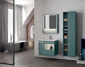 Lume comp.14, Wand-Badezimmerschrank mit Spiegel