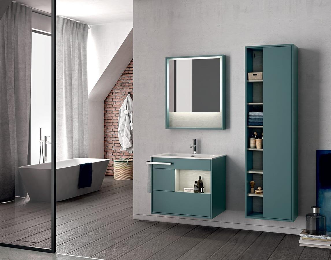 Wand badezimmerschrank mit spiegel idfdesign for Badezimmerschrank spiegel