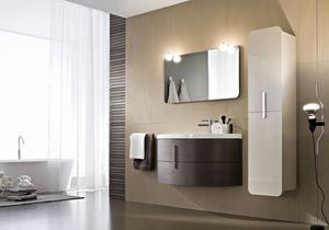 Moon comp.08, Badezimmermöbel mit wesentlicher Gestaltung