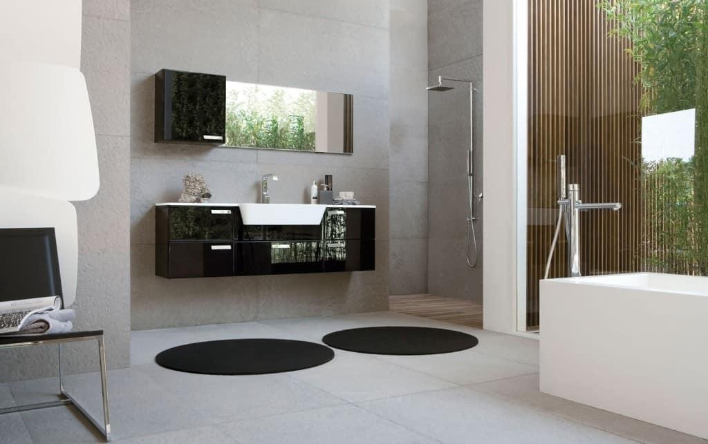 Moderne badezimmermöbel weiss  Moderne Badezimmermöbel mit geringer Tiefe | IDFdesign