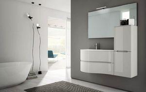 Smyle comp.03, Badezimmerschrank mit sinusförmigem Design