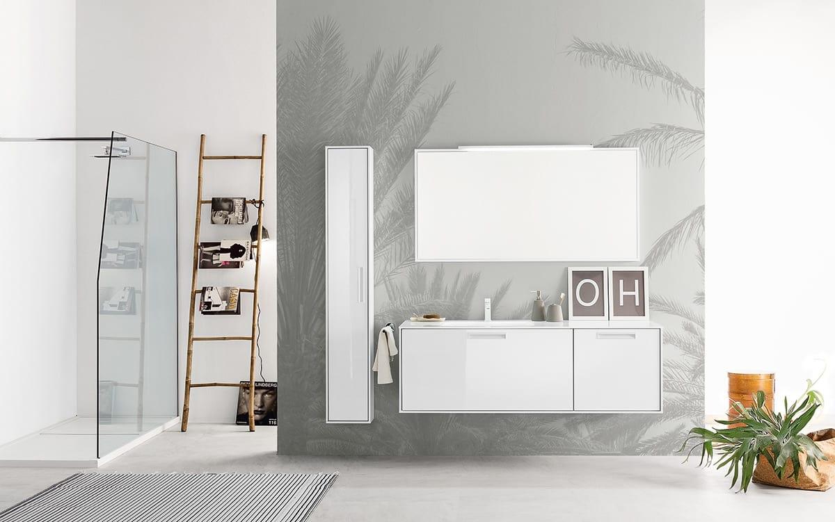 Badezimmerschrank mit Spiegel mit Rahmen und integrierter ...