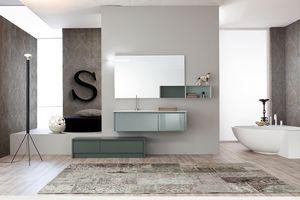 Tender comp.02, Zusammensetzung von Badezimmermöbeln der modernen Art