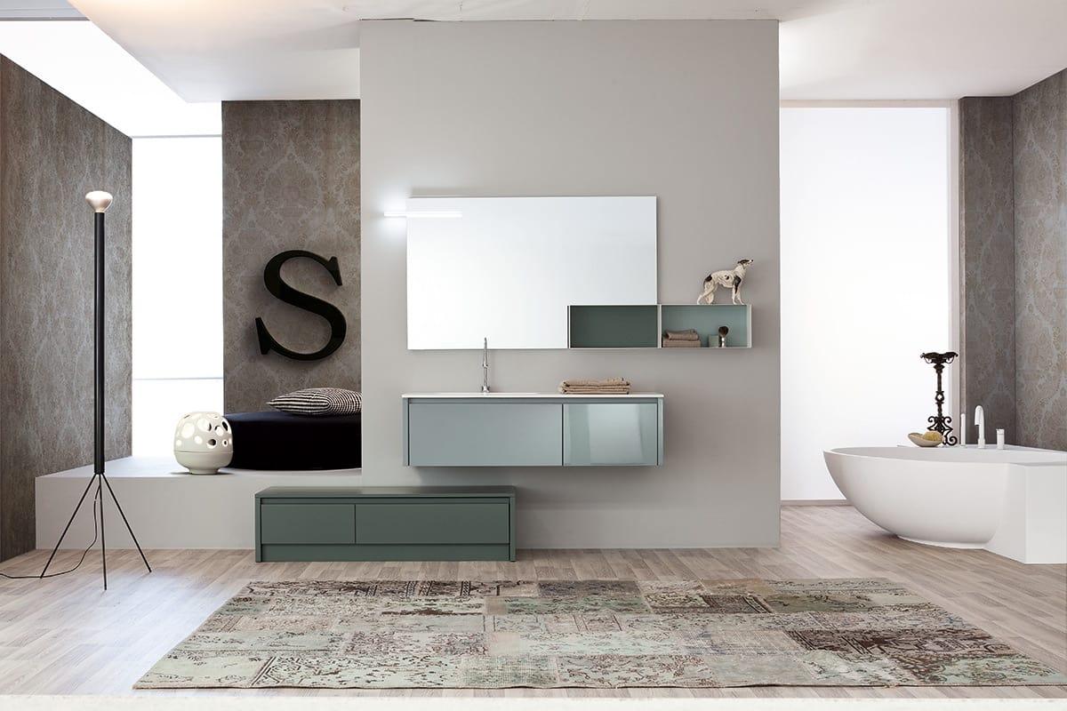 Zusammensetzung Von Badezimmermobeln Der Modernen Art Idfdesign