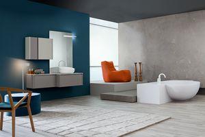 Tender comp.09, Badezimmerschrank, zeitgenössischer Stil