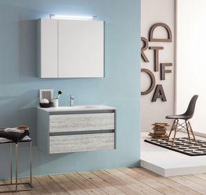 Kami comp.07, Modularer und platzsparender Badezimmerschrank