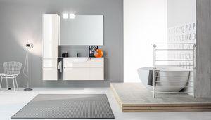 Kami comp.09, Modulares Badezimmer mit polierten Oberflächen