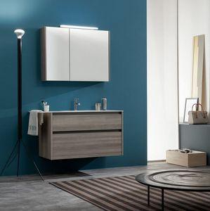 Kami comp.11, Badezimmerschrank mit Spiegel