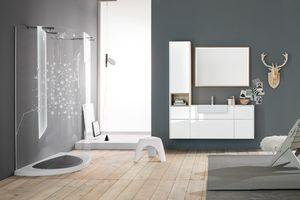 Kami comp.13, Modulares Badezimmerschrank mit Stauraum