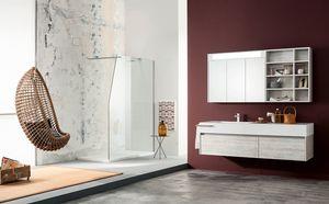 Kami comp.14, Badezimmerschrank mit großen Schubladen und Spiegel