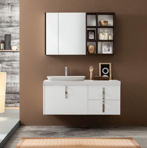 Kami comp.17, Badezimmerschrank mit Spiegel