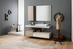Kami comp.20, Wand-Badezimmerschrank mit Speichersäule