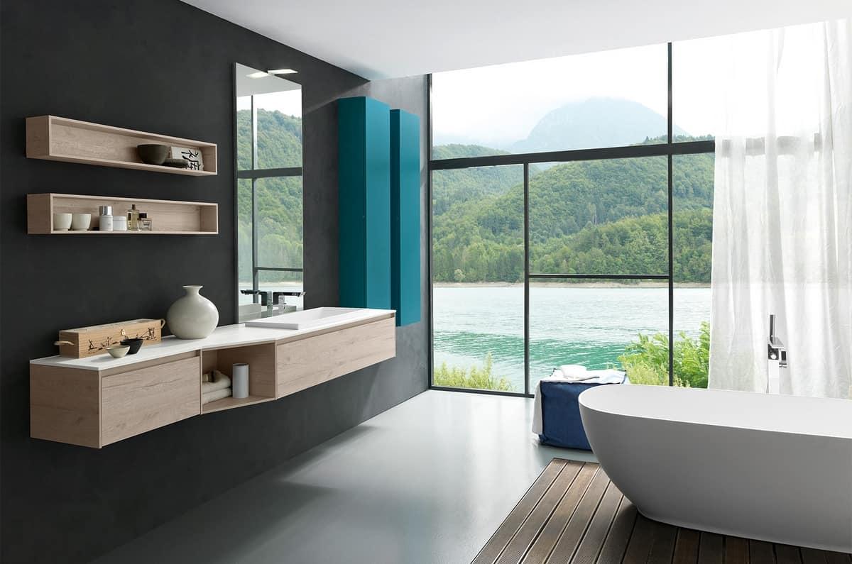 Badmöbel mit top und waschbecken in tecnoril idfdesign