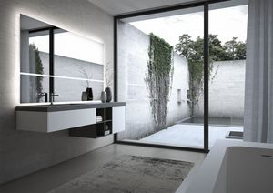 Sense comp.06, Modulare Badezimmermöbel, mit großem Spiegel