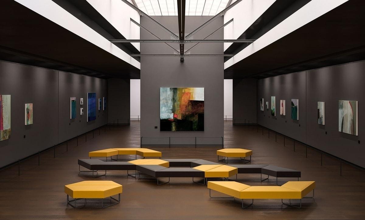 FORMAT, Modular gepolsterte Sitze für Wartezimmer