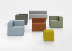 Kuadra, Gepolsterte Bank für Wartebereiche und moderne Stationen