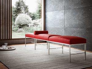 Paesaggio, Moderne Bank für Wartezimmer, sachlich, Metallsockel