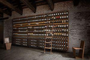 Libreria del vino - Wine bookcase, Modulares Flaschenregal für Wand oder Boden
