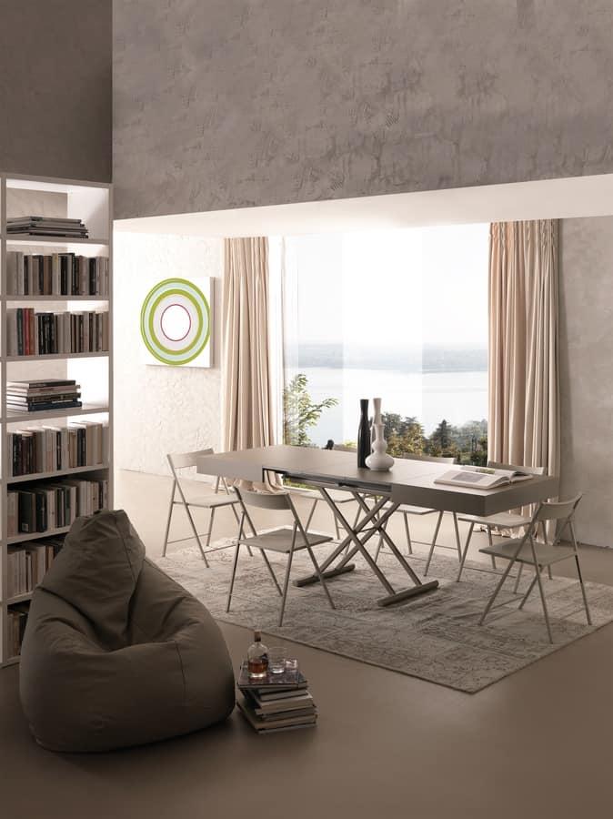 Couchtisch verwandelt sich in ein Esstisch, höhenverstellbar | IDFdesign