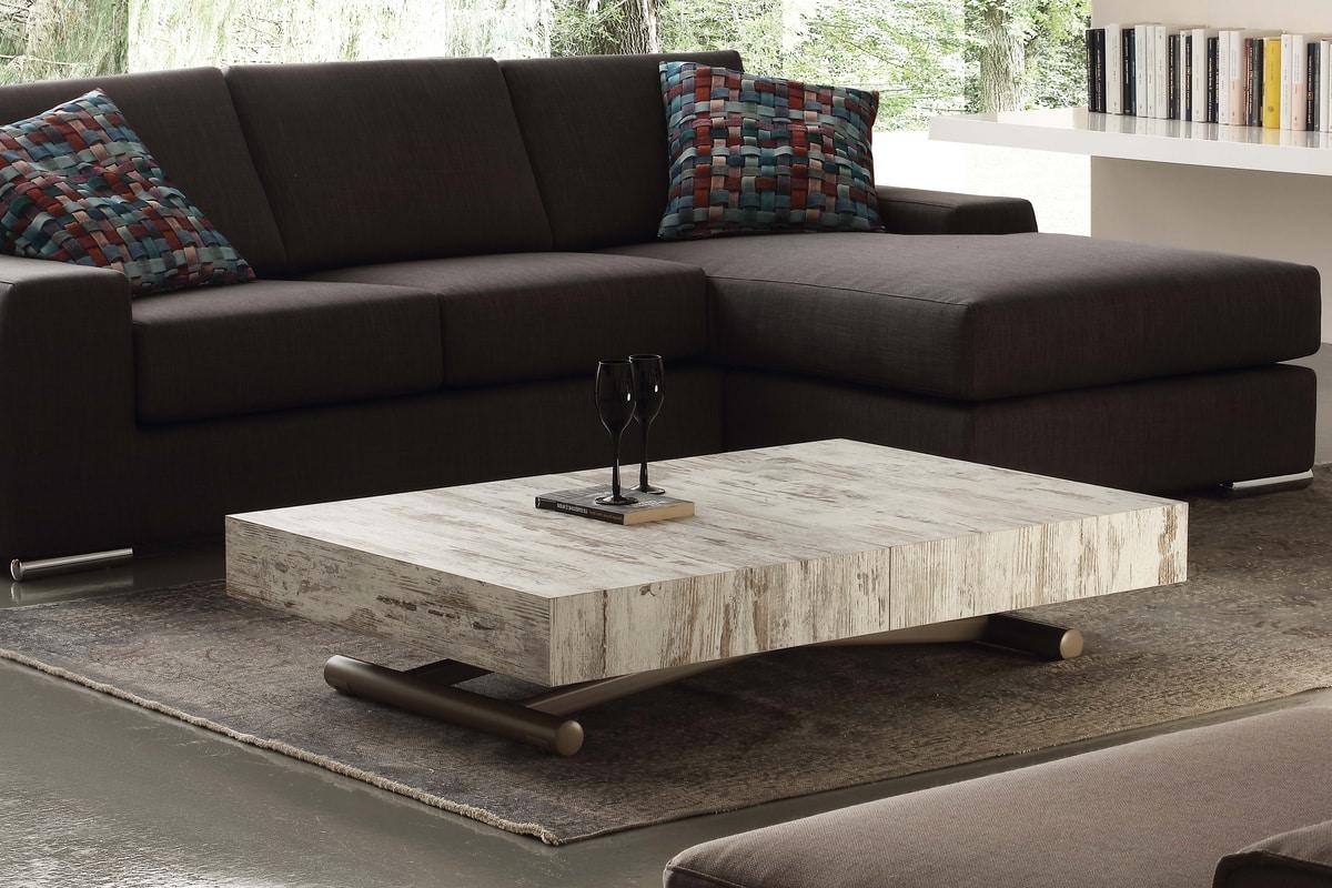 couchtisch verwandelt sich in ein esstisch. Black Bedroom Furniture Sets. Home Design Ideas