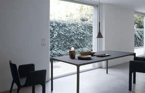 Boiacca rechteckig, Rechteckiger Tisch aus Beton, für Außen