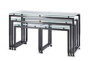 Buffet-Roll, Höhenverstellbare Tische mit Rädern