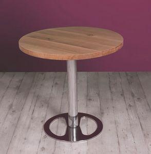 Center, Höhenverstellbarer Tisch mit Holzplatte