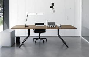 Oops i did it again rechteckig, Wesentlicher rechteckiger Tisch mit Aluminiumbeinen