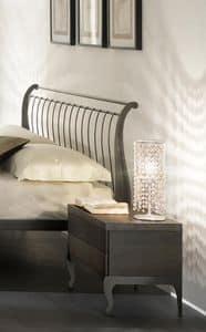 Gio Nachttisch, Tabelle in Eisen und Holz, Soft-Close-System