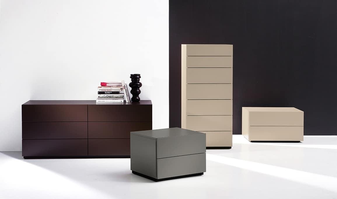 HARU nightstand, Schränke mit Schubladen mit einer wesentlichen Stil