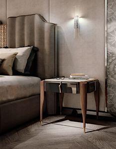 LEXINGTON AVENUE Bettseite, Luxus Nachttisch in Canaletto Nussbaum