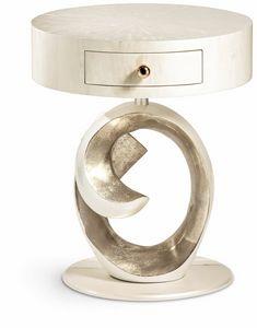 Olga Nachttisch, Runder Nachttisch im klassischen Design