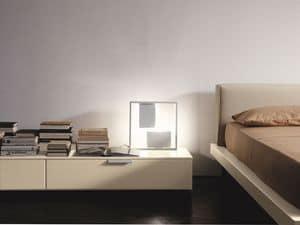 PRISMA comp.08, Moderne Nachttisch, geradliniges Design, für das Schlafzimmer