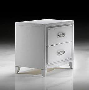 ST 701 P, Moderner Nachttisch mit ovalen Griffen