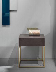 Stardust Nachttisch, Nachttisch mit minimalistischem Design
