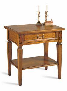 Villa Borghese Kommödchen 5374, Nachttisch aus Holz im klassischen Stil