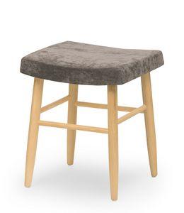 Web stool low, Niedriger Hocker ohne Rückenlehne