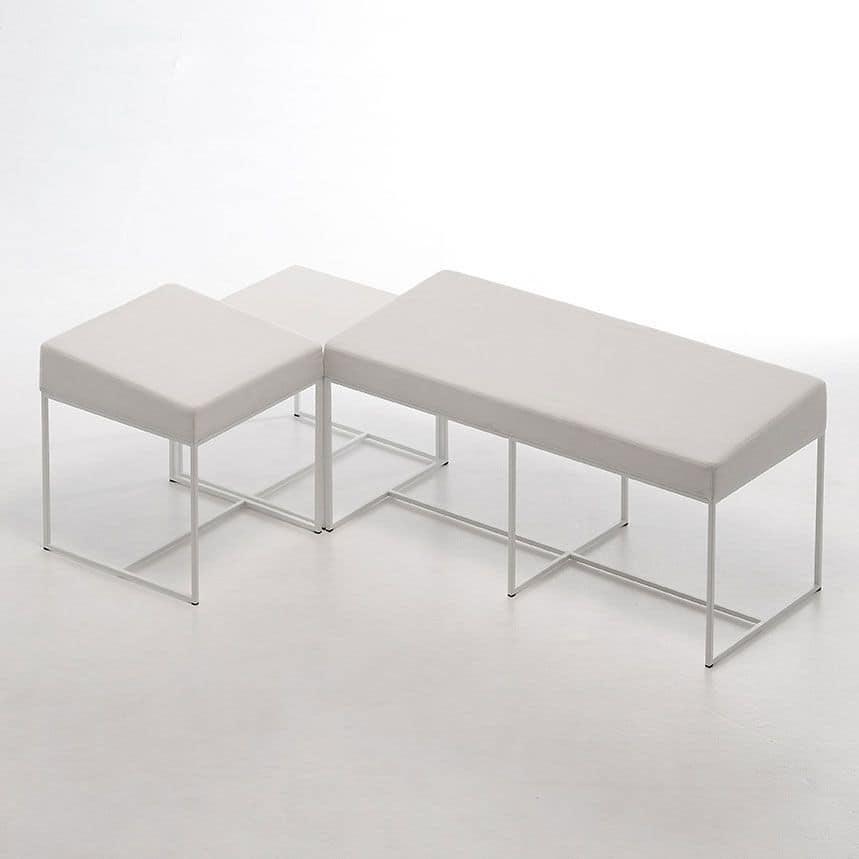 Quadratischen Tisch, top in HPL, leicht  IDFdesign