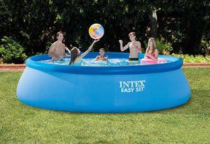 Intex 26166 Ex 28166 Aufblasbares rundes Becken 457x107, Oberirdischer aufblasbarer Pool