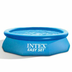 Intex 28122 Easy Aufblasbarer Rundboden Pool Set 305x76 - 28122, Aufblasbares Pool mit Wasserfilter