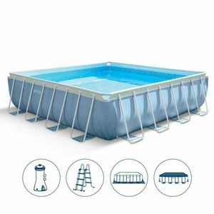 Oberirdischen pool mit platten in hartharz idfdesign - Pool quadratisch ...